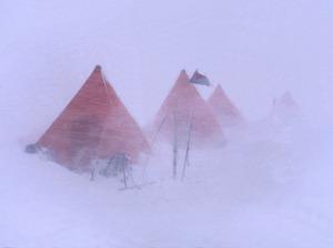 MBL camp tijdens de storm